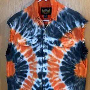 Men's Sturgis 2013 Black Hills sleeveless shirt.